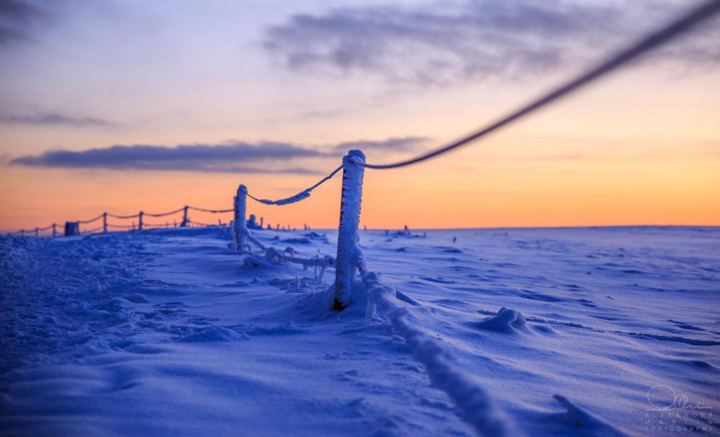 Eisiger Zaun Wasserkuppe Rhön