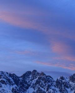 Berge, Sonnenuntergang