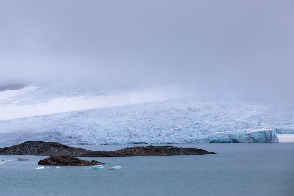 Hardangerjøkulen Eis Wasser Nebel
