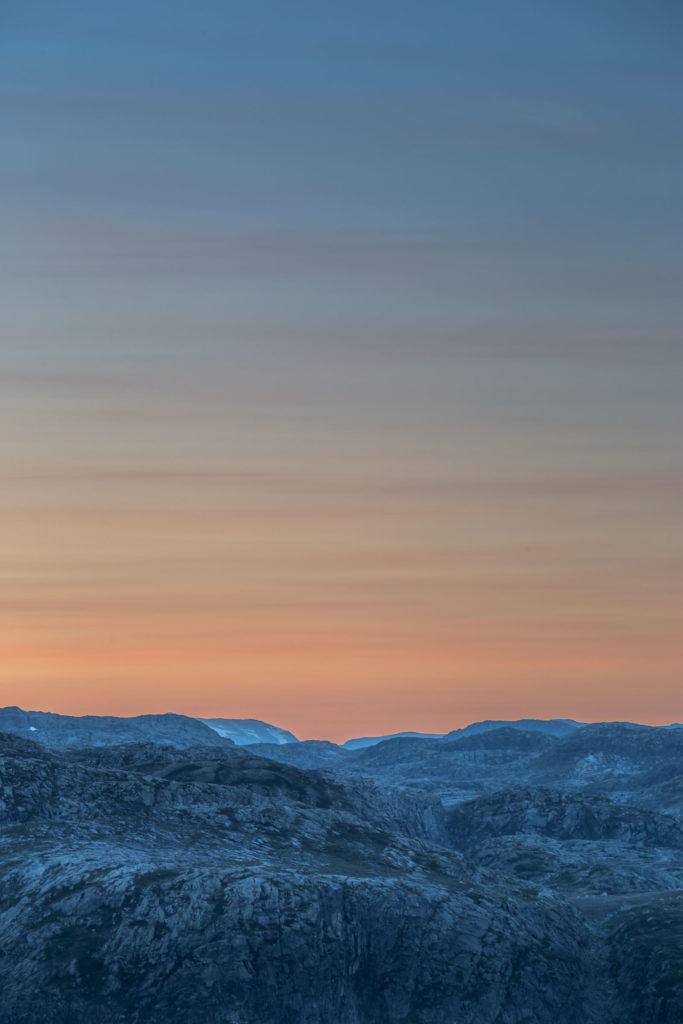 Berglandschaft Sonnenuntergang