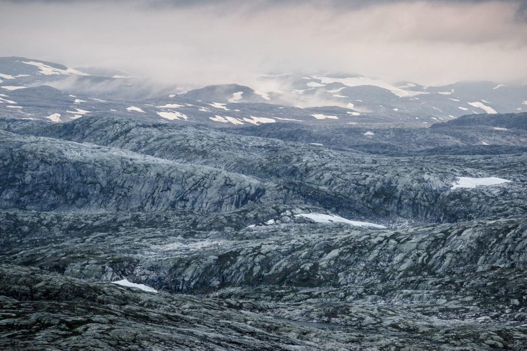 Karge Landschaft Hardangervidda Felsen
