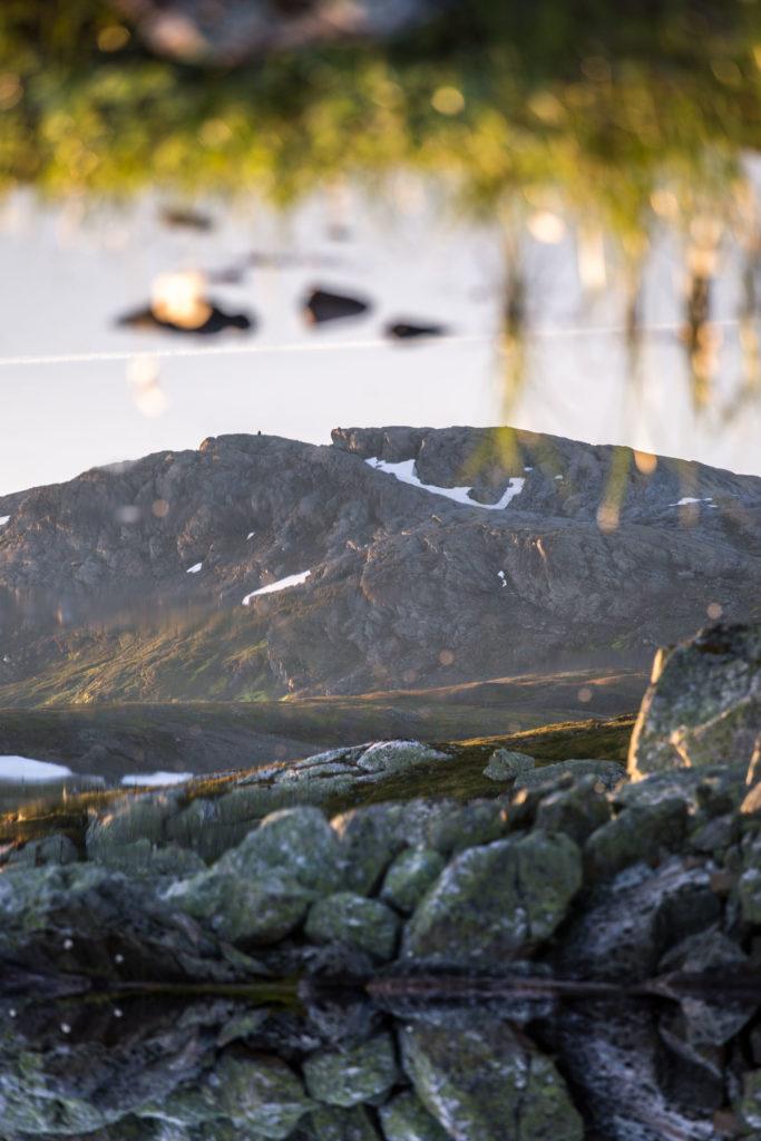 Refektion Wasser Steine Berg