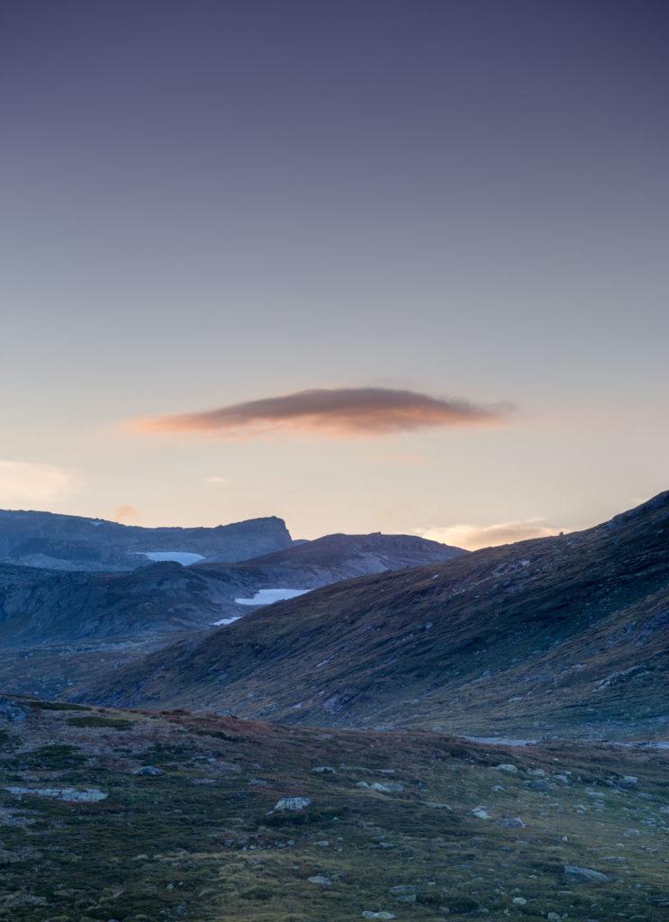 Abendlicht Wolke Farben Landschaft Hardangervidda