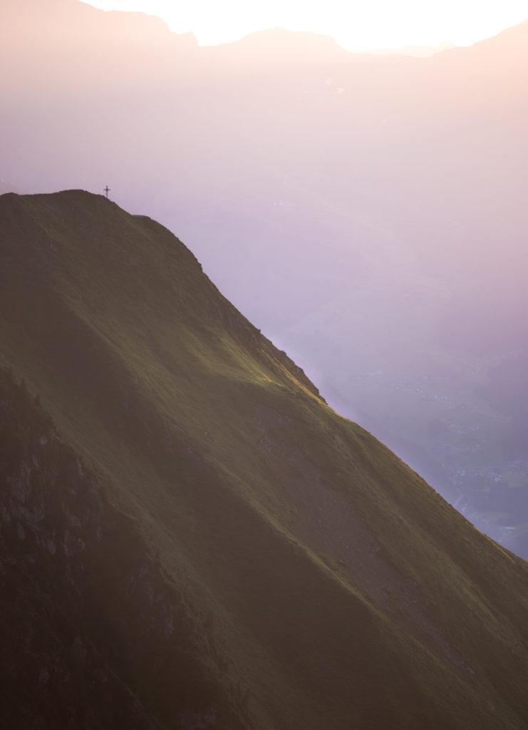 Sonnenuntergang Edelhütte Zillertal
