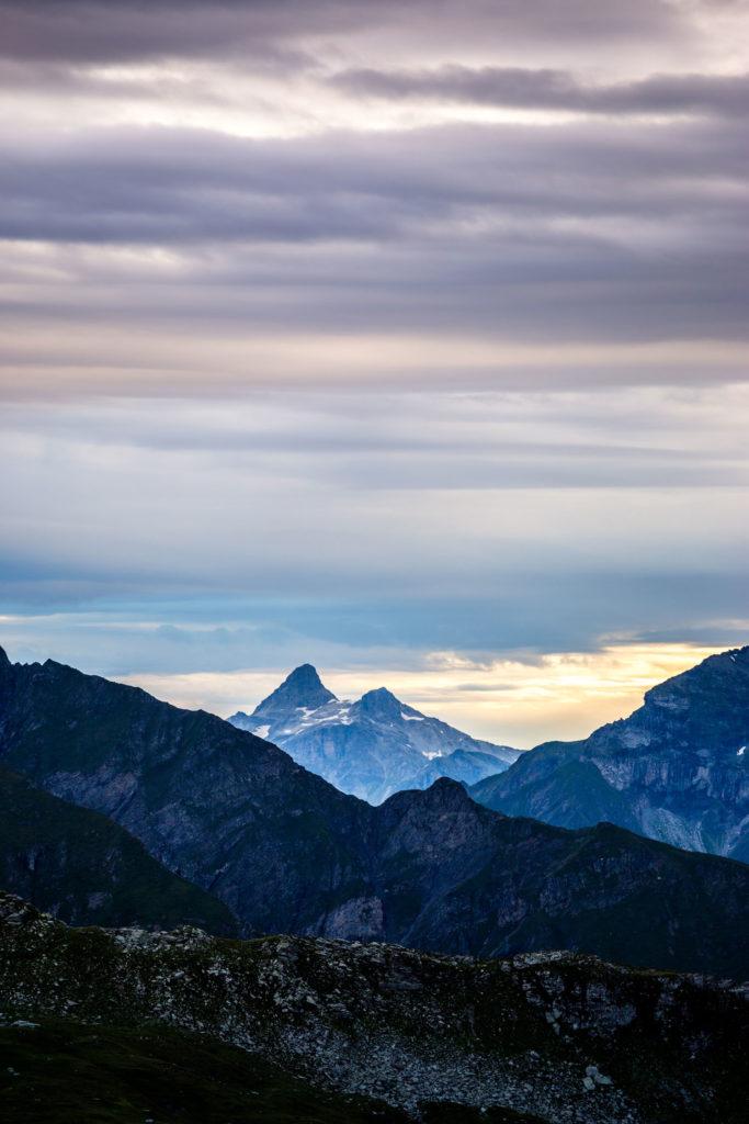 Schweiz Berge Sonnenuntergang 5 Seen Wanderung