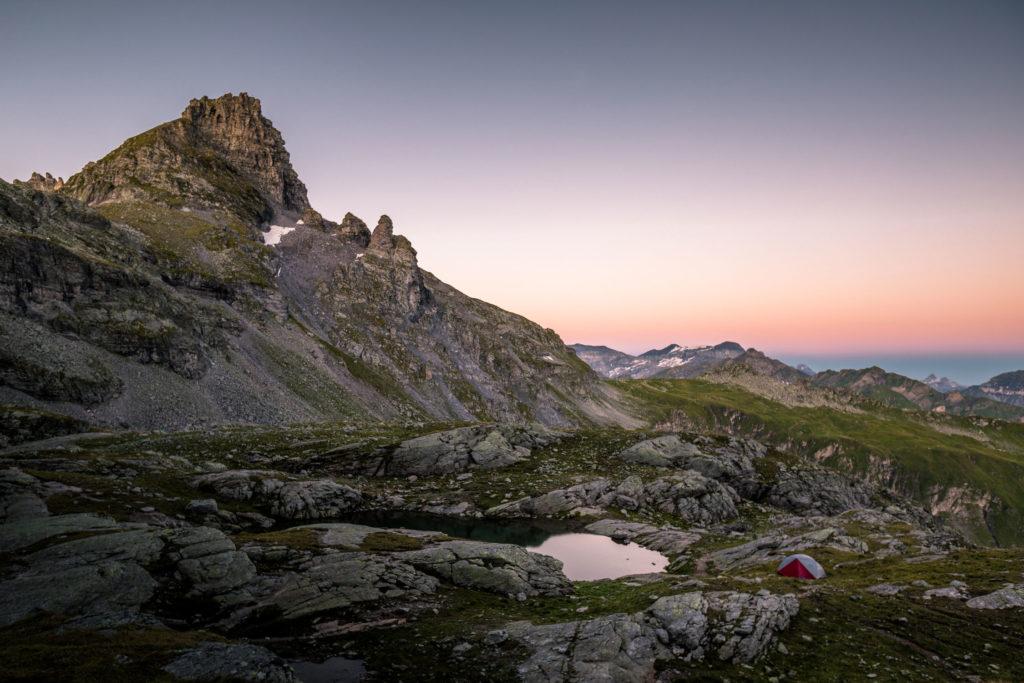 Pizol Schottensee Schweiz MSR Zelt