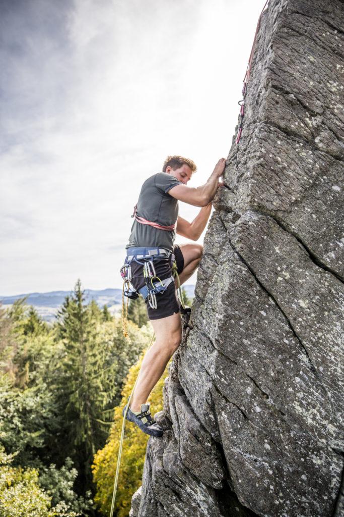 Klettern Steinwand Rhön