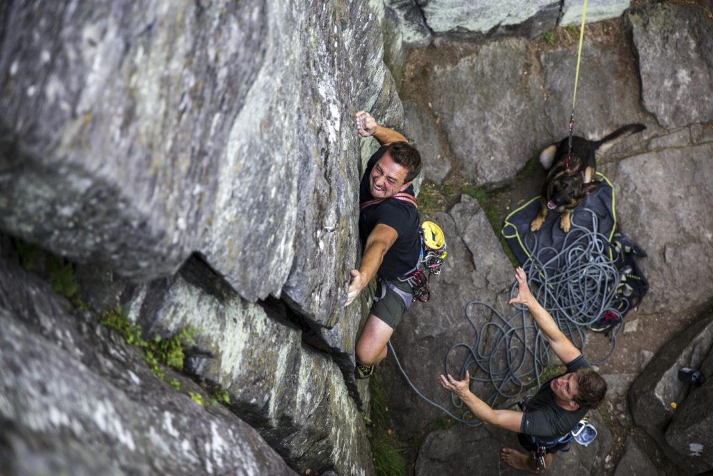 Abseilplatte Steinwand Rhön