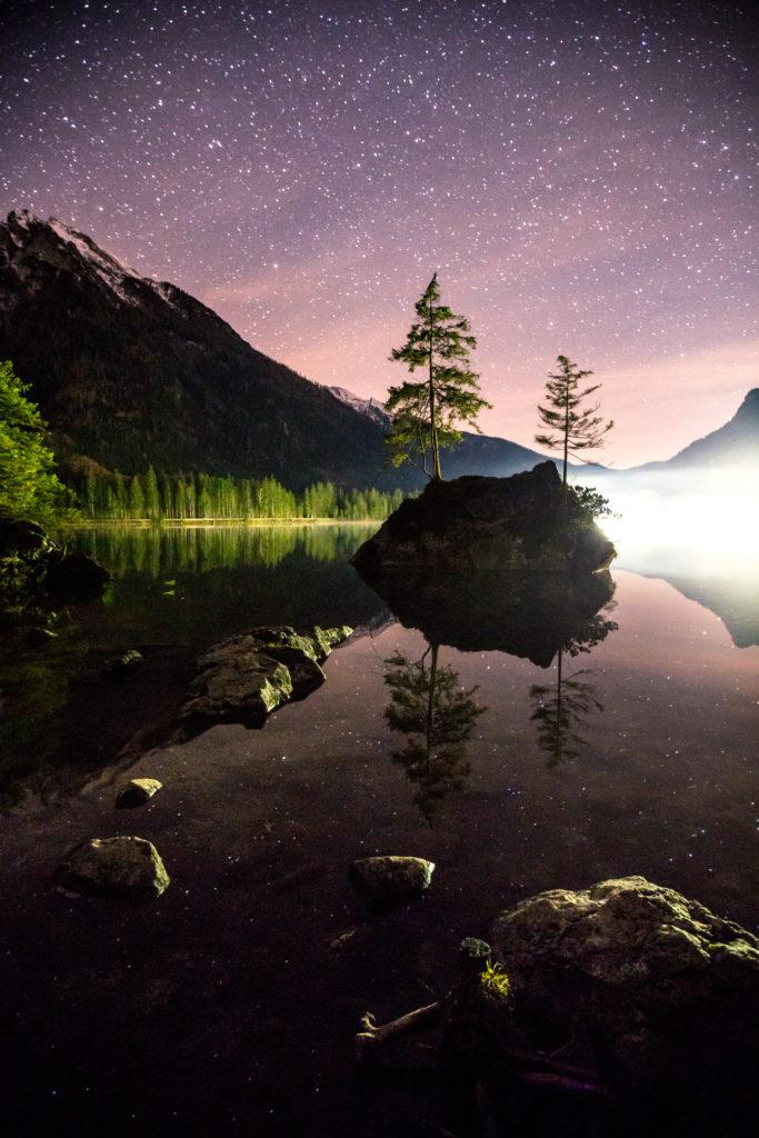 Fotospot Hintersee Sternenhimmel