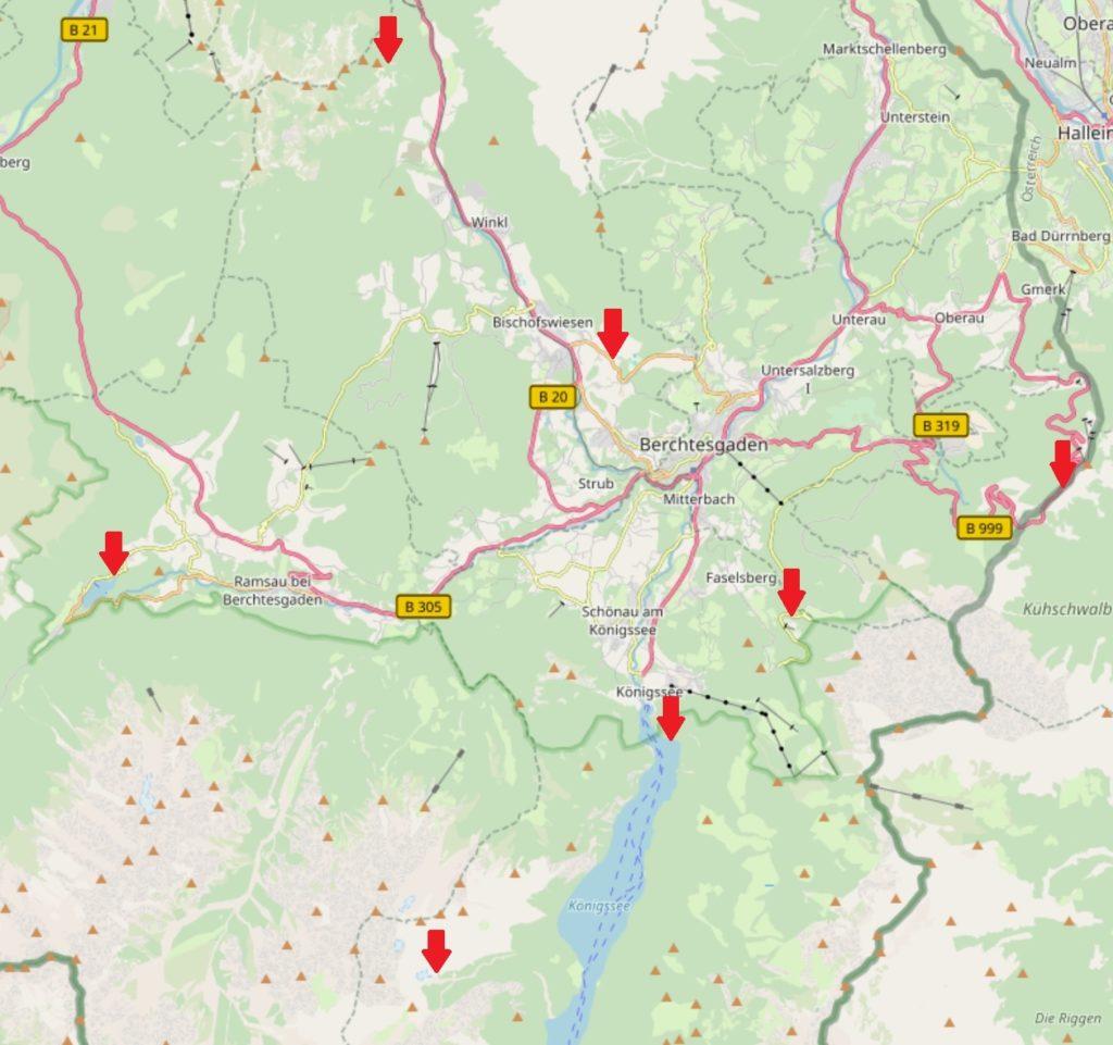 Fotospots Berchtesgaden open street map