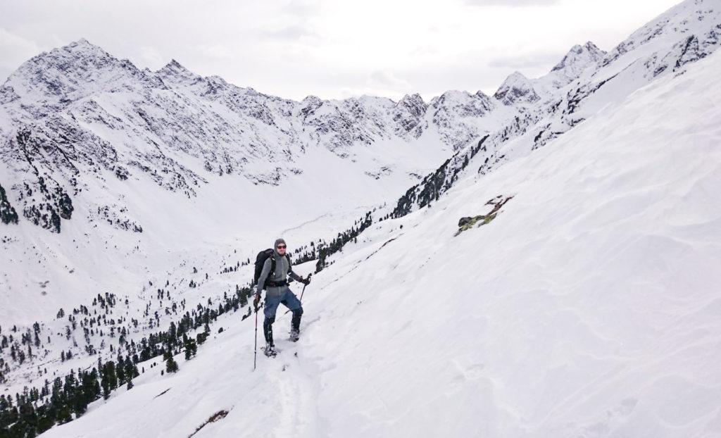 Schneeschuhe Aufstieg Kühtai