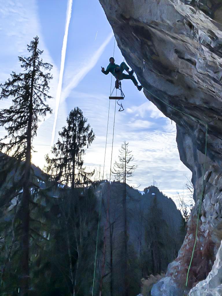 Sportfotografie Klettern am Seil