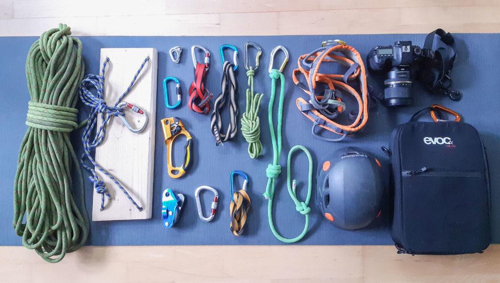 Material Ausrüstung Sportfotografie Klettern