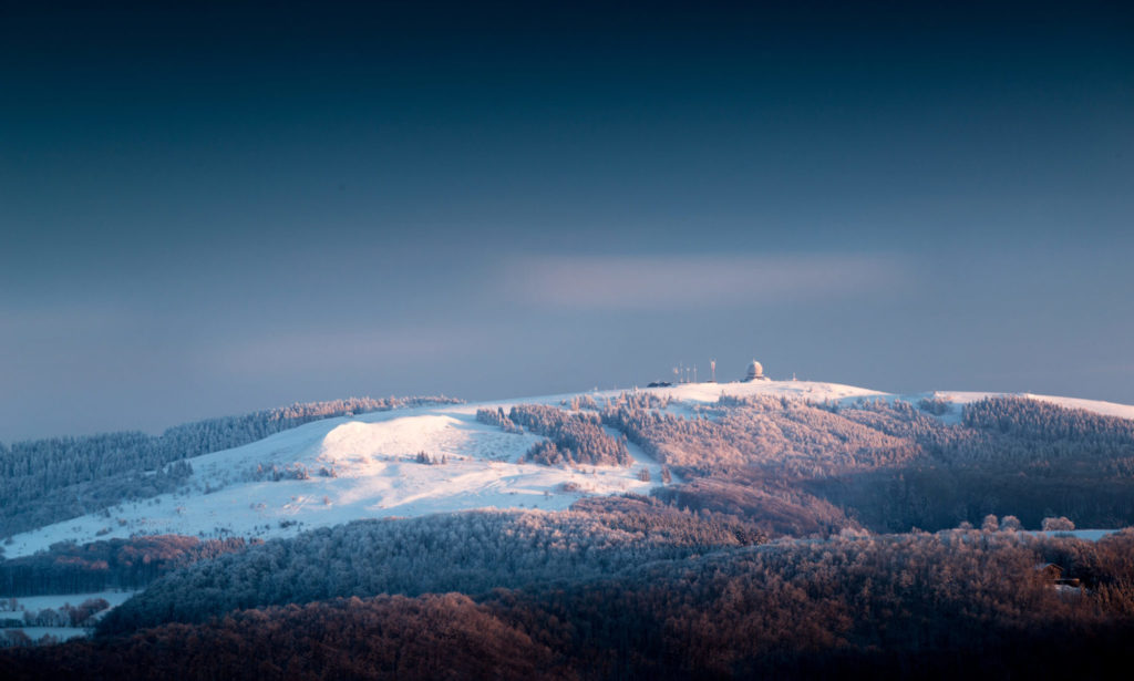 Wasserkuppe Winter Berg Wald