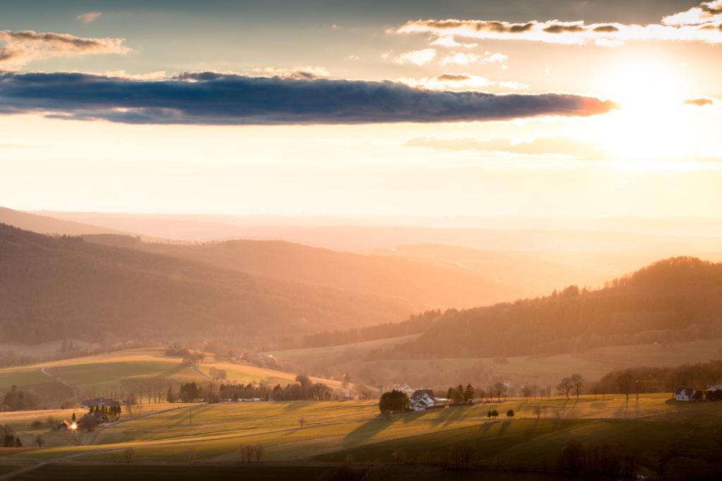 Sonnenuntergang Rhön
