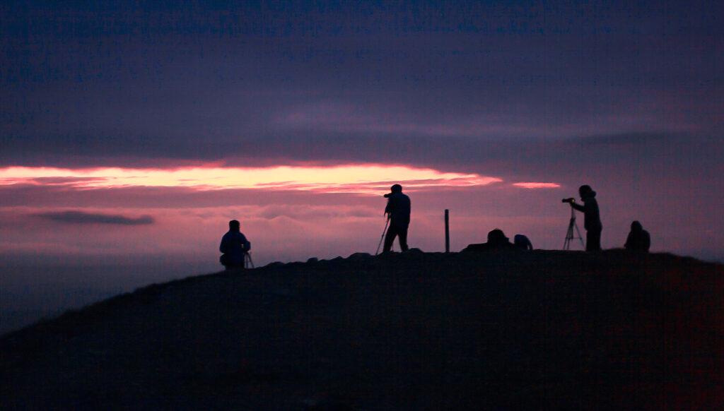 Sonnenuntergang Workshop Gruppe