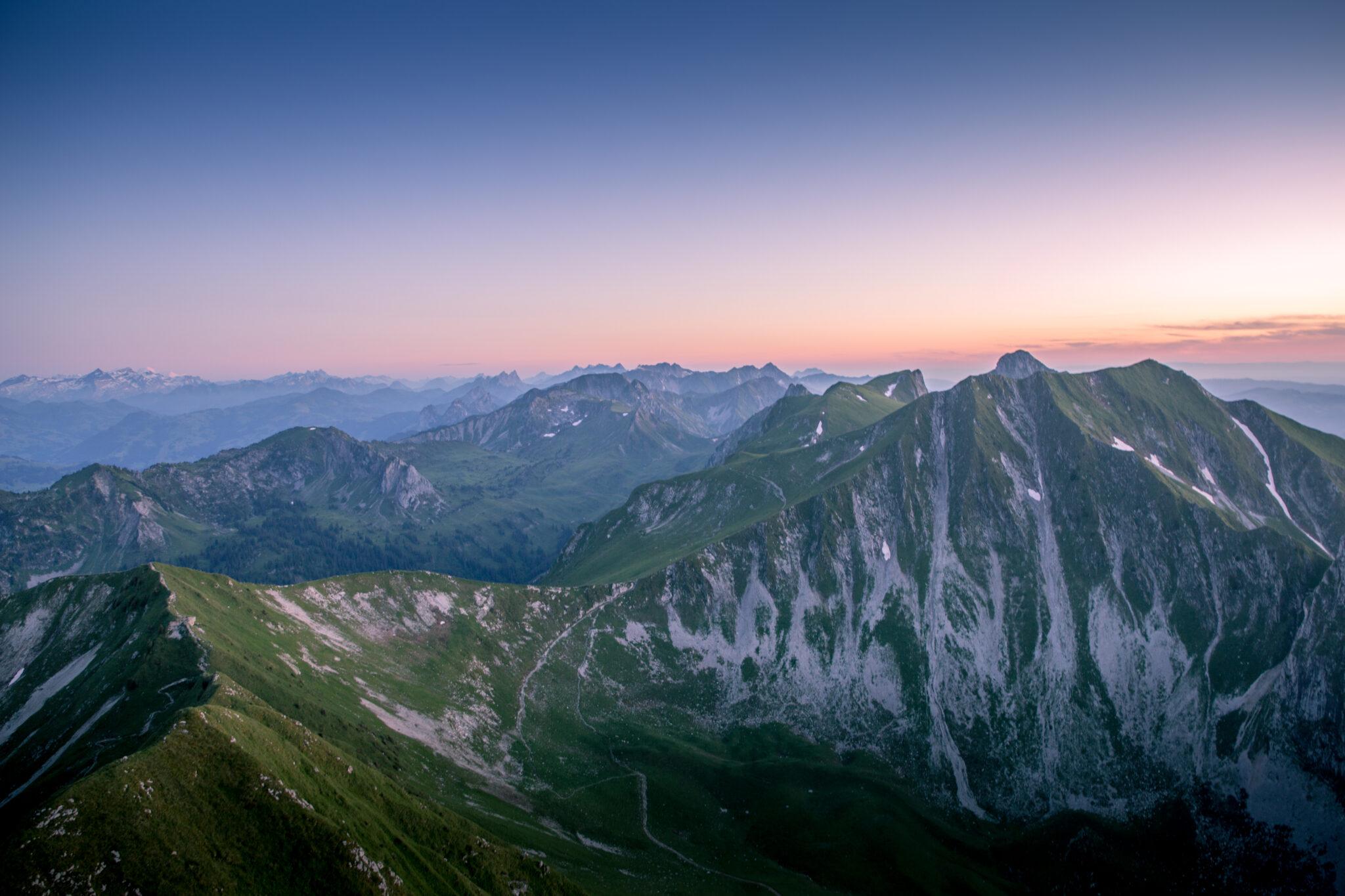 Sonnenuntergang Gantrisch